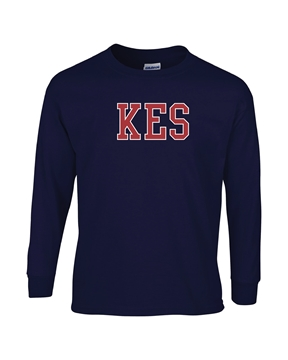 Picture of KES Navy Youth Long Sleeve T-Shirt