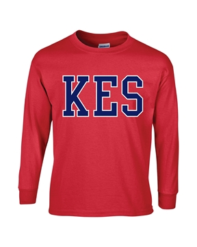 Picture of KES Red Youth Long Sleeve T-Shirt