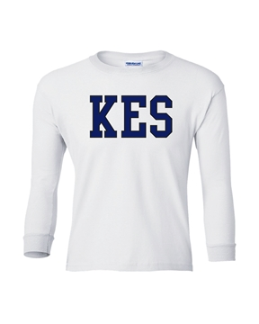 Picture of KES White Youth Long Sleeve T-Shirt
