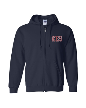 Picture of KES Navy Hoodie Full Zip
