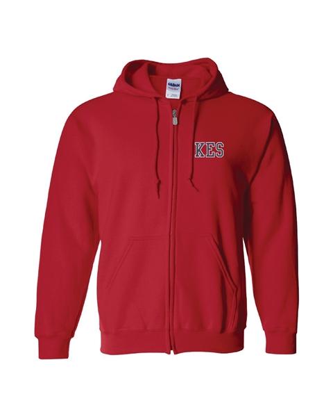 Picture of KES Red Hoodie Full Zip