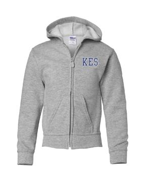 Picture of KES Grey Hoodie Full Zip