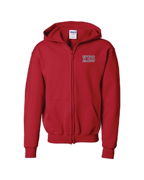 Picture of KES Red Youth Hoodie Full Zip