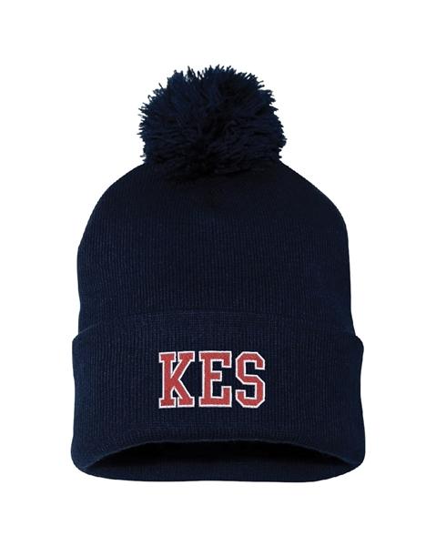 Picture of KES Navy Pom-Pom Knit Toque