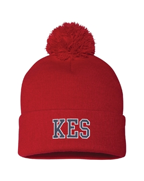 Picture of KES Red Pom-Pom Knit Toque