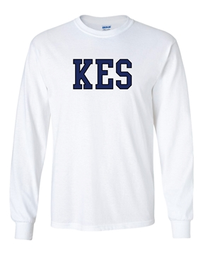 Picture of KES White Long Sleeve T-Shirt